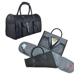 Black Duffle Garment Overnight Bags