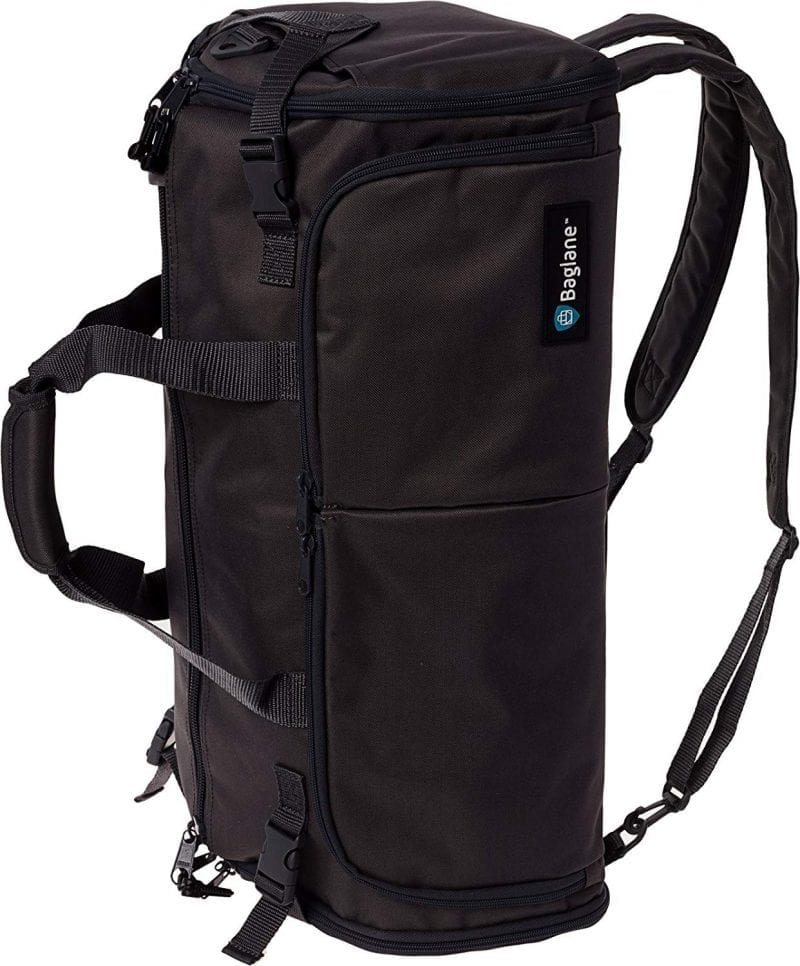 Black Backpack Overnight Bags